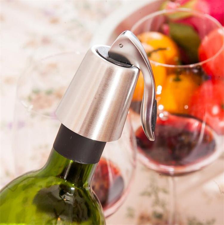 Vacío nuevo acero inoxidable botella sellada de vino tinto almacenamiento tapón sellador del ahorrador del conservante de Champagne Cierres Tapas Tapas Inicio Barra de Herramientas I518