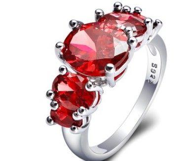Оптовая низкая цена, высокое качество 3 шт. / лот больше цвет алмаза кристалл 925 серебряных дамских колец размер 6-10 (7.3) DFD