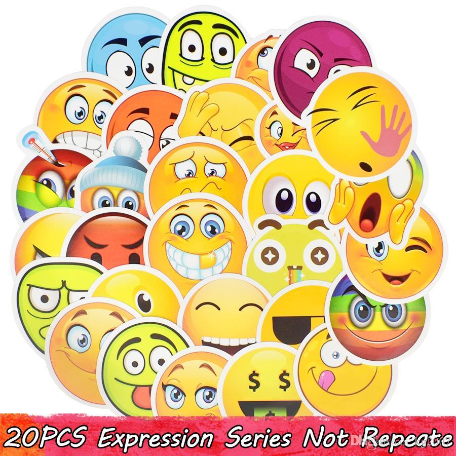 Acheter Emoji Autocollant Smiley Enfant Jouets Anime Etanche Decor A La Maison Autocollant Diy Mur Bureau Scrapbook Livre Valise Velo Creative Toy