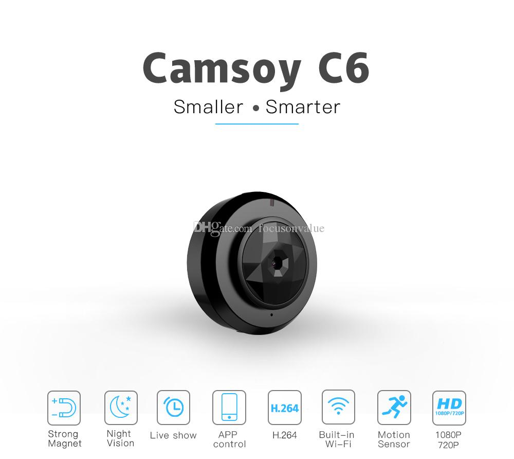 C6 Mini Camera Wifi P2P IP Camera HD 720P Night Vision mini video recorder Portable Small wearable boby camera support Motion Detection