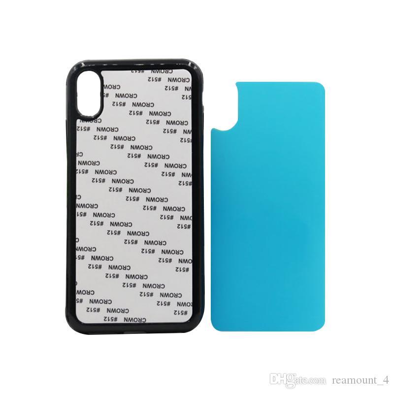 Caso de sublimação em branco para iphone xs xs max filme macio sublimação impressão de borracha do telefone tampa traseira para o iphone xr