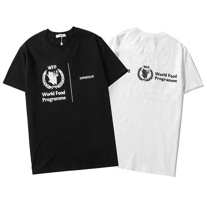 20SS Bahar Tasarımcı Kadınlar Erkekler T-shirtlTees Marka Moda Yüksek Kalite Ücretsiz Gemi Lüks Erkekler Rasgele tişört Boyut QS 2020505Y Asain