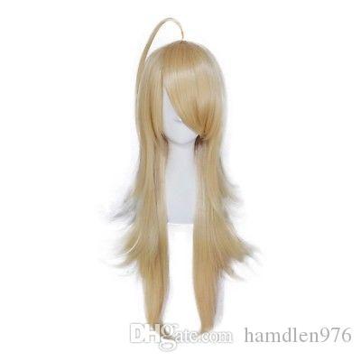Free shippingNew caliente moda cosplay peluca sintética larga rubia pelucas llenas