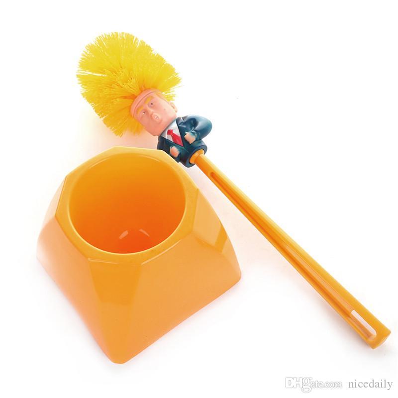 Donald Trump Toilet Supplies Strumenti per la pulizia del bagno Scopino Trump Scopino per bagno Home Hotel Accessori per la pulizia del bagno Supporto