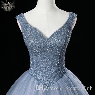 grau blau / rosa voll Sicken oben Rokoko Renaissance Ball viktorianisches Kleid / Partei / Bühnen-Performance / mittelalterliches Kleid / bellt Kleid