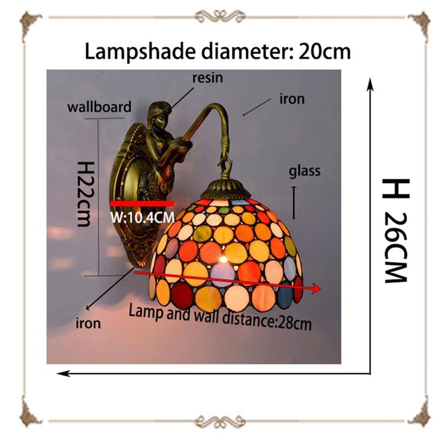 Dot parede Arte Luzes LED Strip Quarto Lava Lamp Yeelight Room Decor Wall Lamp Ups frete grátis Luz vidro Oceano Mermaid Lâmpada de parede