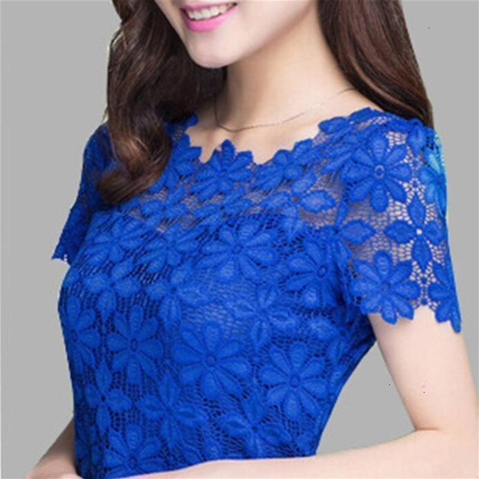 Bayan Bluzlar Bayan Giyim Kadınlar Dantel Gömlek blusas Gömlek Yeni Moda Kısa Kollu Bayan Bluz Artı boyutu Kadınlar Giyim 5XL Tops