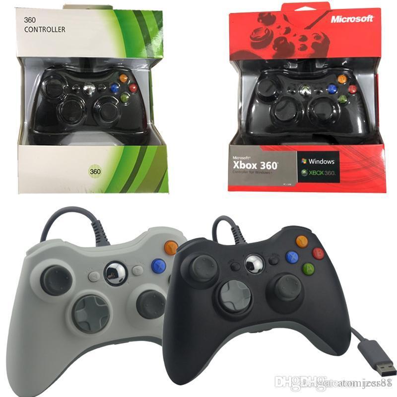 High Quality Game-Controller für Xbox 360 Gamepad schwarz USB-Kabel PC für Xbox 360 Joypad Joystick Zubehör für Laptop-Computer PC DHL