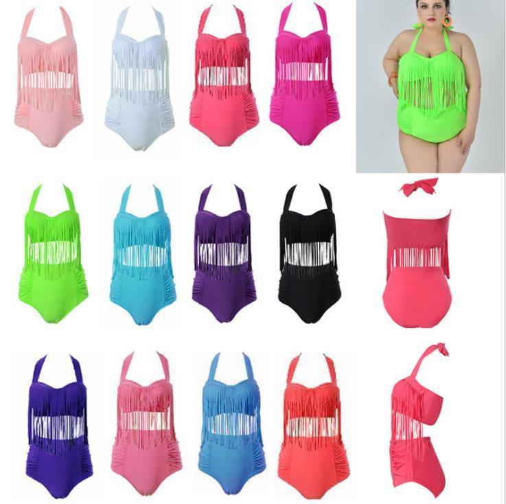 Vestiti delle donne più il formato Bikini Set Estate nappe Designer sexy 2pcs gli insiemi del bikini