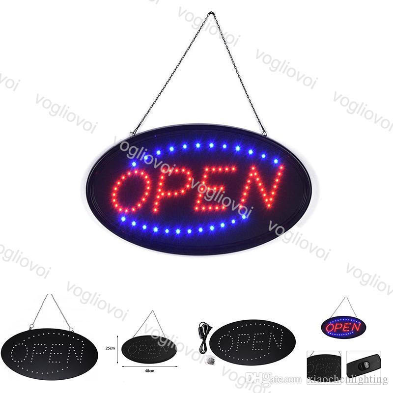 LED sinal aberto publicidade luz outdoor shopping center brilhante movimento animado loja de loja de negócios loja US / UE plug eub