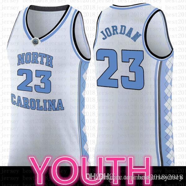 NNorth Carolina Jersey NCAA 23 Michael Üniversitesi Retro Basketbol Jersey Dikişli 9889 Beyaz Basketbol Shirts99 23 Koleji Mavi