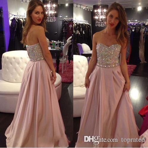 2020 Sparkle wulstige Abschlussball-Kleid-Schatz ärmel spezielle Gelegenheits-Kleid mit Rüschen Sweep Zug plus size Billig-Abend-Partei-Kleider A-Linie