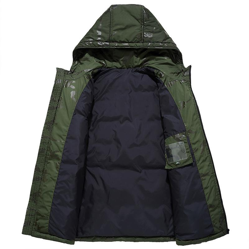 Nice Winter Coat Men White Duck Down Jacket Snow Parkas Casual Hooded Coats Camouflage Windbreaker Jackets Thick Warm Down Parka