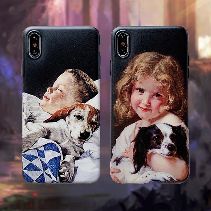 Iphone 11promax / 11pro / 11 x XR XS MAS Popüler Telefon Kılıfları Kız ve Erkek Retro Stiller telefon Vaka Vaka sevimli çift TPU Arka Kapak Baskı