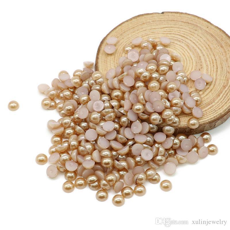 Lt.coffee ABS mezza perla 8mm 1900 pezzi / borsa per decorazione all'ingrosso indumento perla piatta all'ingrosso all'ingrosso all'ingrosso