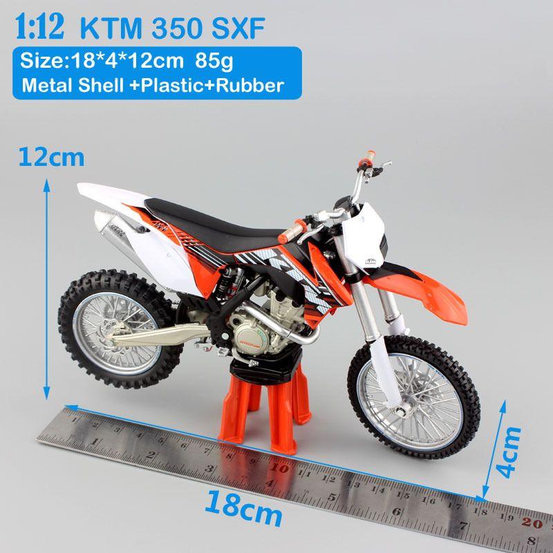 1/12 échelle enfants AutoMaXX KTM 350 SXF Motocross modèle motocycliste SXF dirt bike Diecasts Véhicules miniatures pour la collecte Y200317