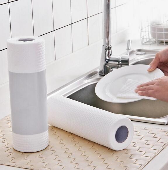 5 rolos óleo de cozinha absorção de Água Absorção papel laminado papel Cozinha Toalha de pano descartável transporte gratuito 255mm * 250mm FY6131