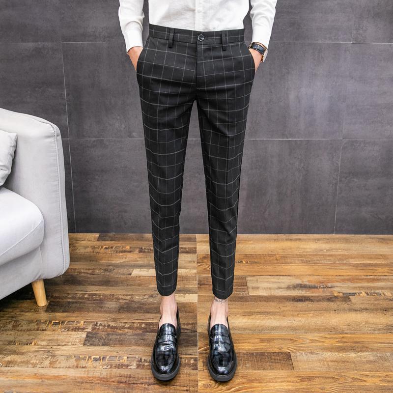 Pantaloni Uomo Formali per Ufficio//casa Casual Eleganti di qualit/à