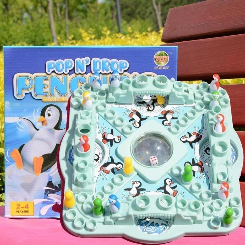 Penguin Schach fliegt, springt Schach, super große Würfel, Eltern-Kind-interaktives Lernspielzeug, Kinderbrettspiele Gesellschaftsspiele T200413