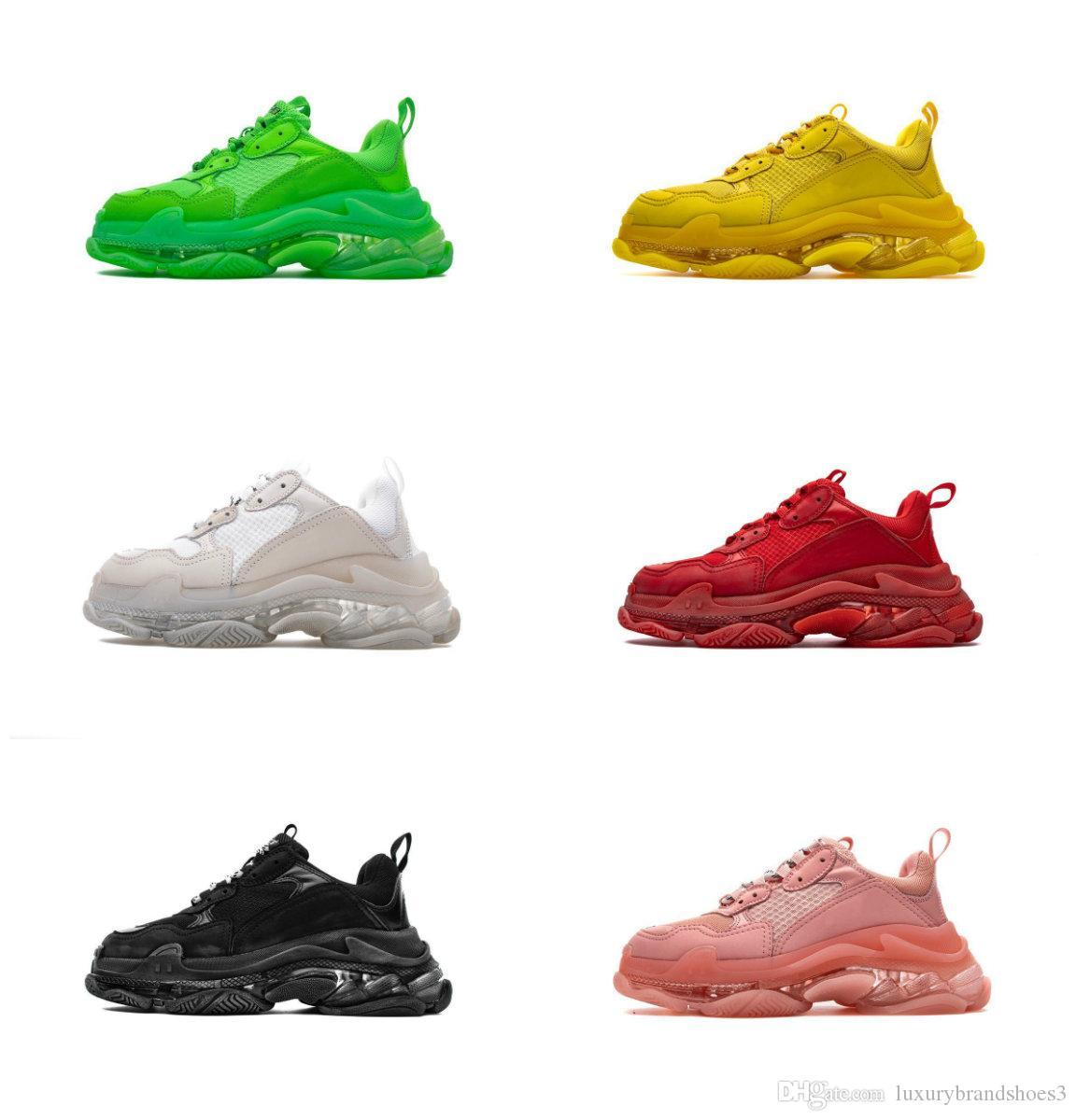 2019 Triple S papà Scarpe migliore qualità Triple-S Casual Shoes Trainer Scarpe Uomo Donna Beige Nero Casual Scarpe Sport