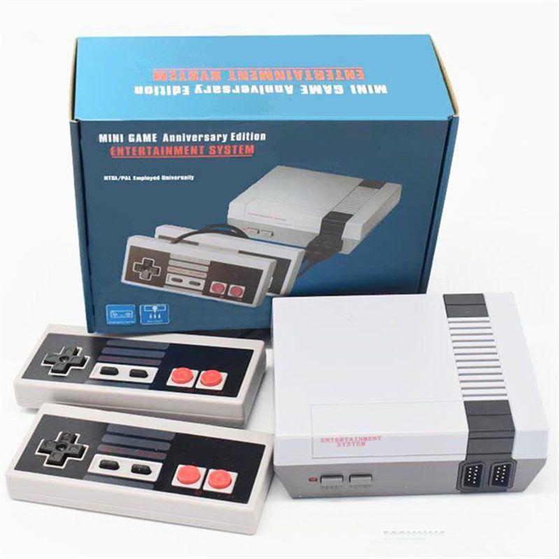 Mini TV 620 500 Consolas de vídeo portátil para NES jogo de console Sup portátil jogador do jogo com Gamepad
