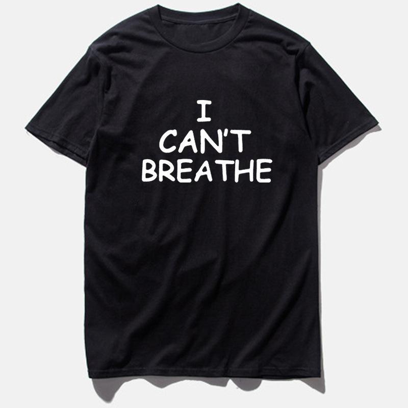Pallacanestro manica corta non riesco a respirare adolescente allentato uomo di grandi dimensioni T-shirt di grandi dimensioni
