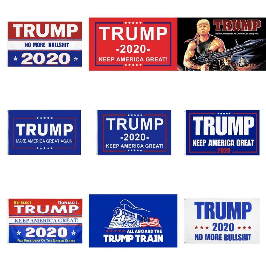 Newes 10 estilos Trump 2020 Bandera de los 90 * 150cm Keep America gran impresión de banderas de EE.UU. Partido indicador de la bandera Donald Trump Elección Presidencial Banner 6 # 77