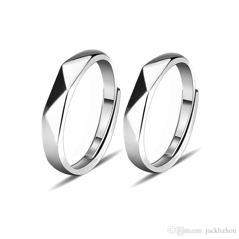 S925 argento coppia matrimonio anello gioielli semplici vivere bocca anello studente gioielli all'ingrosso