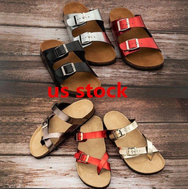 미국 주식, 애리조나 2020 여름 해변 코르크 슬리퍼 플립 샌들 여성 혼합 색상 캐주얼 슬라이드 신발 플랫 무료 배송 36-46 FY9067 퍼