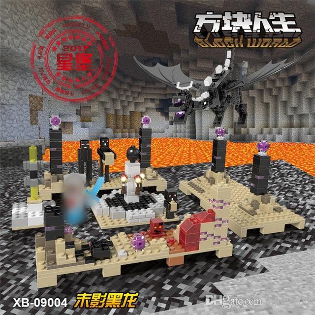 Xingbao 09004 678Pcs Bloques Life Series Negro El dragón fijó niños Juguetes educativos bloques de construcción Ladrillos regalos Boy Modelo