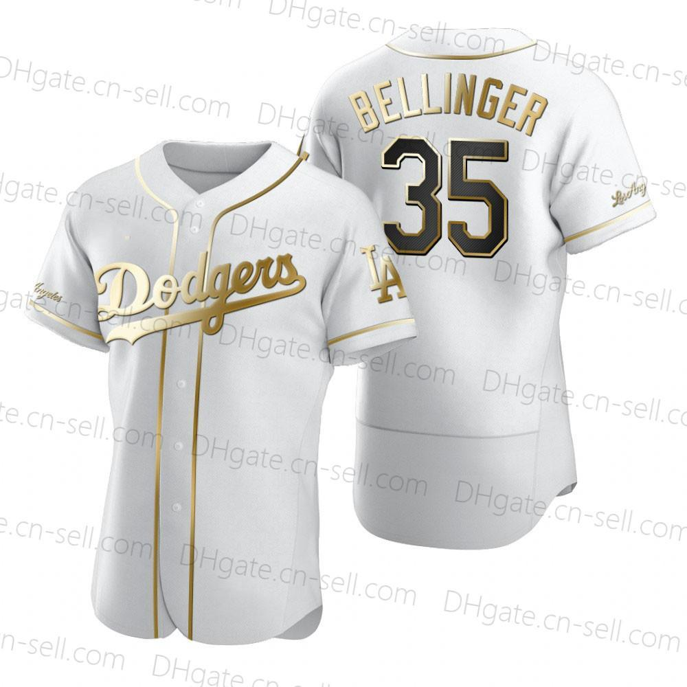 Hot Dodger 50 Mookie Betts Bellinger 22 Kershaw Justin Turner Max Muncy Corey Seager Authentic Ouro Edição Baseball Jersey MEN SENHORA DE CRIANÇA