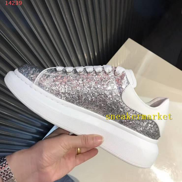 Fashion Luxury Designer Woman Shoes Man Sneaker Mixed Colors Platform White Sneaker Party Wedding Shoe Drop Shipping Size 35-46 With Box