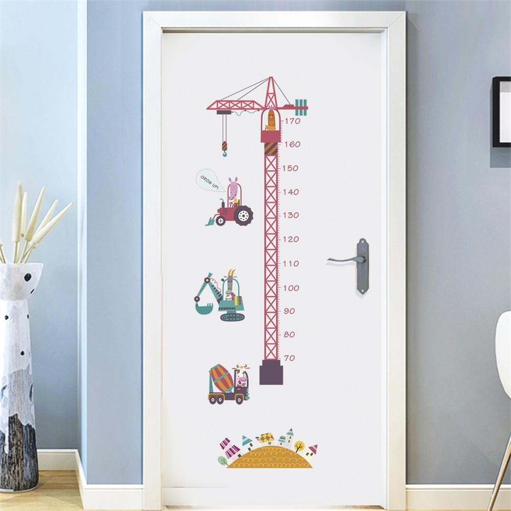 Jungle Animals Height Measure Wall Sticker For Kids Rooms Growth Chart Nursery Room Decor Wall Decals Art