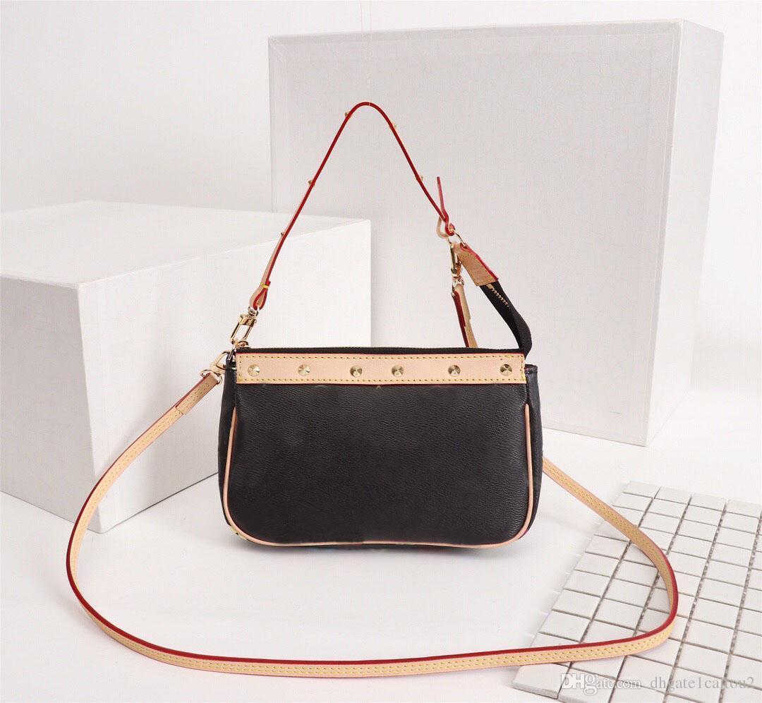 원래 고품질 패션 디자이너 럭셔리 핸드백 지갑 빈티지 가방 여성 브랜드 클래식 스타일 정품 가죽 어깨 가방
