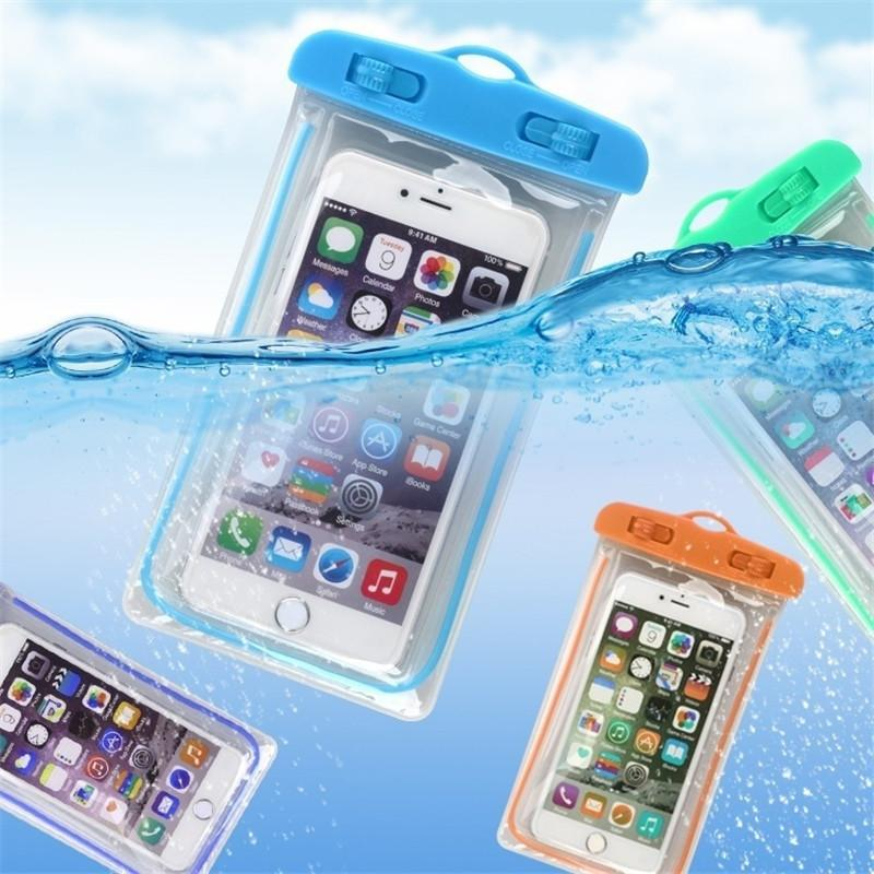 Universal Luminous Waterproof Pouch Swimming Gadget Beach Dry Bag Mobile Phone Case Cover Camping Skiing Holder For Cell Phone FREE SHIPPING