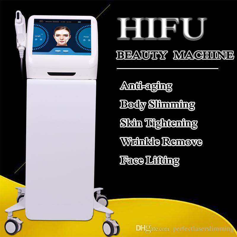 Vente chaude ultrasons portable body lift visage Soins de la peau anti vieillissement qualité HIFU peau du visage du corps de serrage machine à ultrasons HIFU
