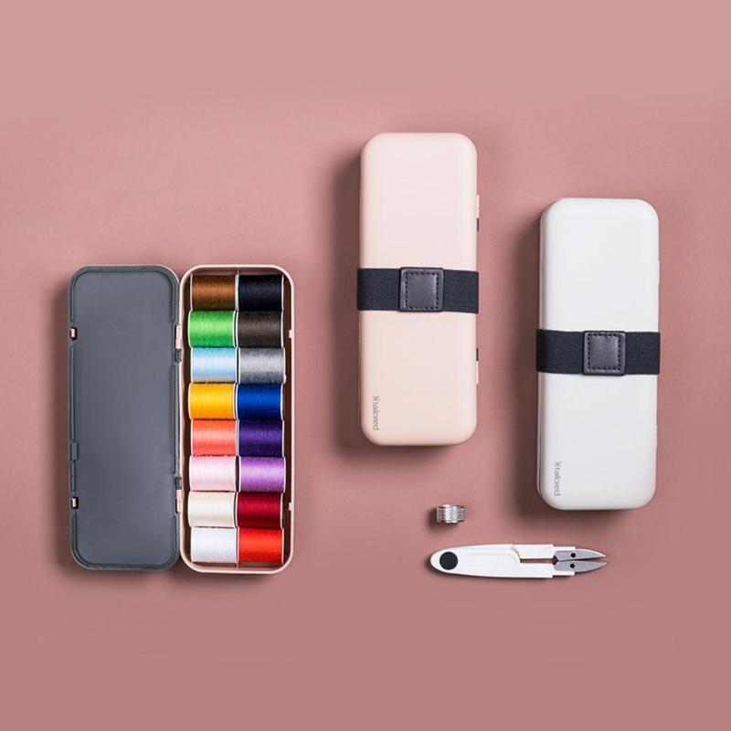Multifunción de costura sistema de la caja de kits de costura de costura acolchar de la mano portátiles Accesorios hilo de bordar para el hogar