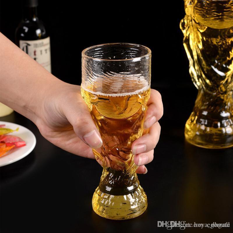 Nuovo arriva Coppa del Mondo di vetro bar in vetro colorato vino Moda fai da te Unbreakable chiare gomma Wine Glass pieghevoli bicchieri di vino tazza