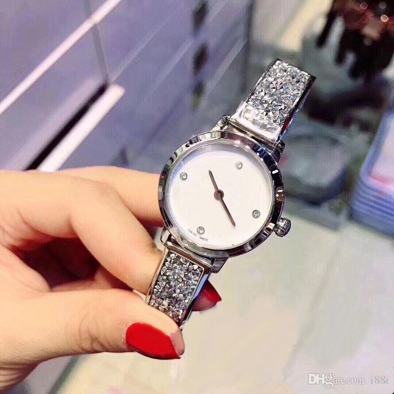 Nice New Luxury Women Watch shine Diamonds rose gold Special Design Relojes De Marca Mujer Lady Dress Watch Quartz drop shipping