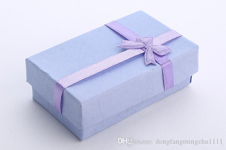 5 * 8 * 2,5 centímetros PURPLE Moda para Charms Gift Box Beads Embalagem para pingentes colares brincos anéis pulseiras Jóias Frete grátis