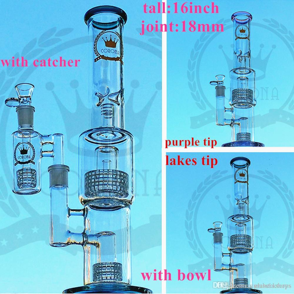 Honeycomb Percolator Glass Water Pipes Real Picture Glass Bong with free bowl , 18.8 mm oil rigs