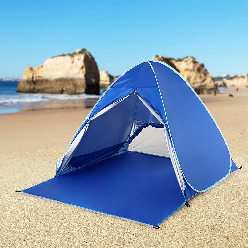 Lixada Automatic Instant Pop Up Beach Tent Lightweight UV ...