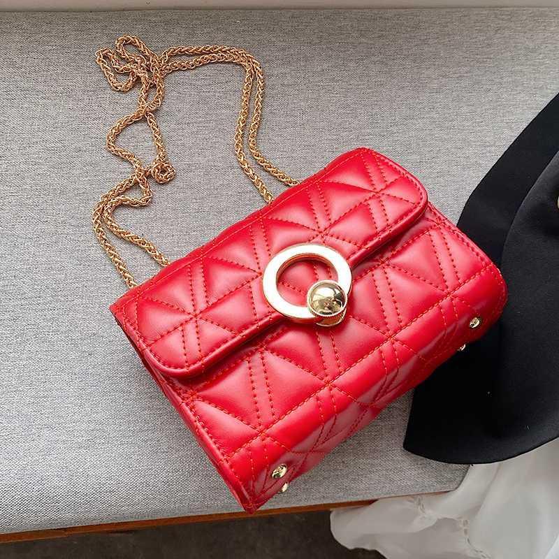 Solid Color Ladies Hand Bags Small Chain Shoulder Bag Flap PU Leather Crossbody Bags For Women 2020 Diamond Lattice Handbag