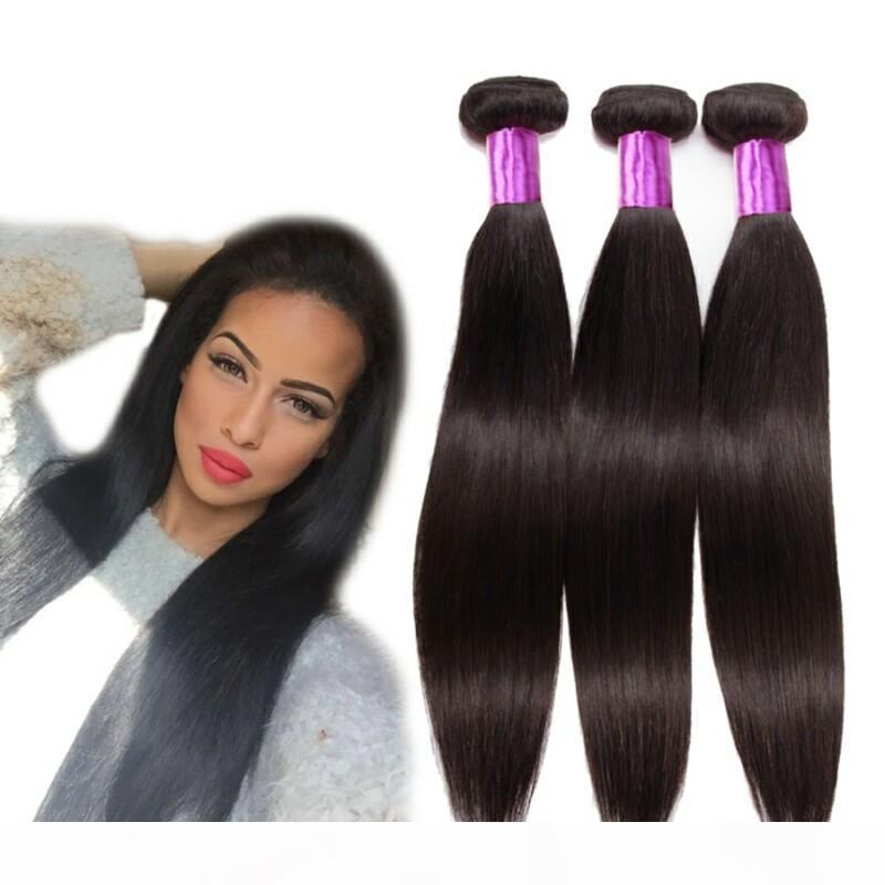 8A Grade Wholesale Body Wave Bundles Loose Wave Straight Weave Brazilian Virgin Hair Wet and Wavy Remy Human Hair Natural Black