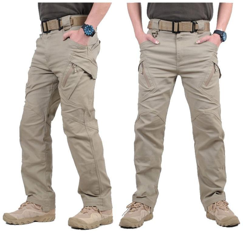IX9 City Cargo Pants Men SWAT Combat Army Pants Hombre Tactical Training Trousers Fashion Casual Overalls Waterproof