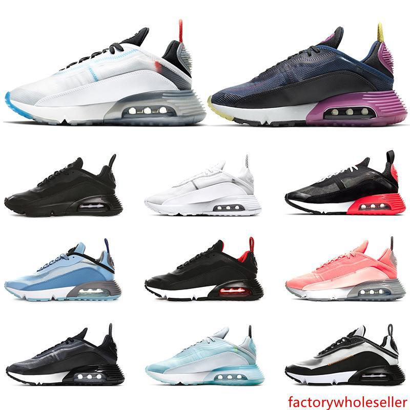 Los zapatos más nuevos 2090 Hombres Mujeres Running Pure Platinum Pato Camo Bred Triple Negro Blanco 2090 Diseñador Deportes zapatillas de deporte Tamaño 36-45