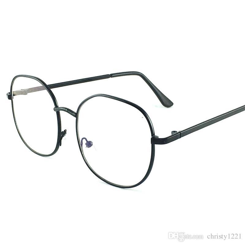 Nuevo Vintage Ópticas Gafas Hombres Gafas de Metal Marco Completo Moda Retro Color Unisex gafas de sol Mujeres gafas de sol Lentes Transparentes 007