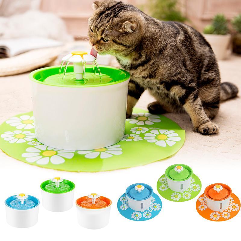 1.6L Cat Fontaine d'eau Fontaine d'eau électrique Chien Chat Buveur Bowl Pet Cat Abreuvoir Distributeur