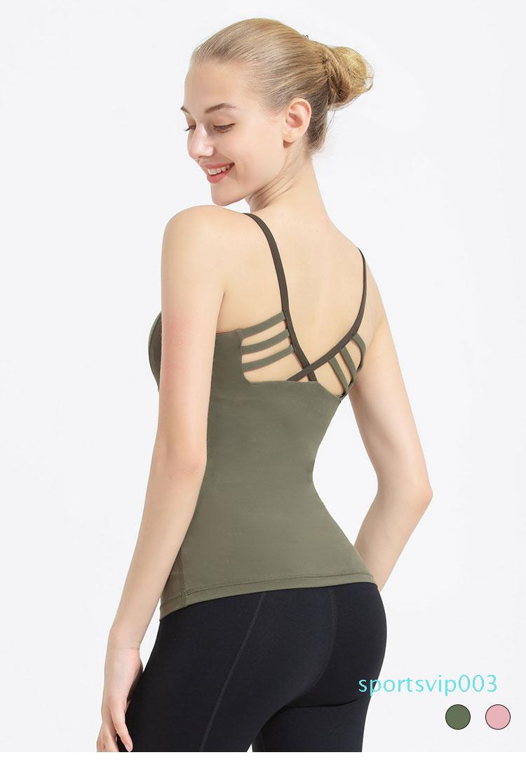 Yoga vest for women with chest mat tight cross sexy and matching colors professional yoga sports jacket suspenders