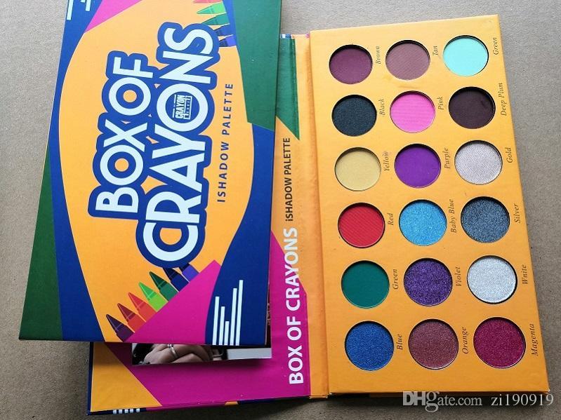 재고 무료 배송 BOX 크레용 IShadow 팔레트 아이 섀도우 팔레트 18 색 새로운 메이크업